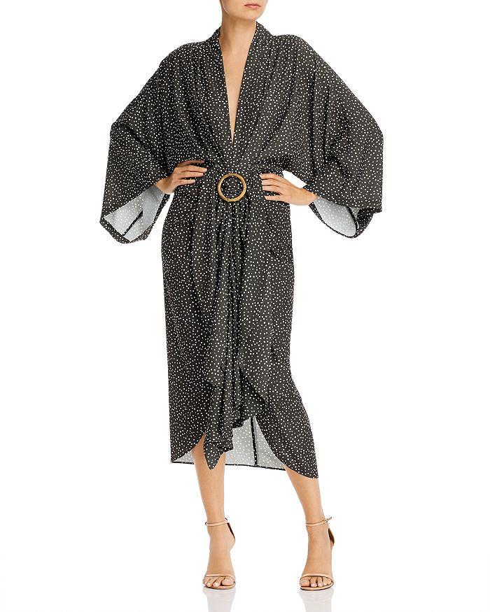 Acler - Templin Deep-V Dot-Print Midi Dress