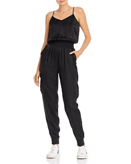 Cinq à Sept - Amia Satin V-Neck Jumpsuit