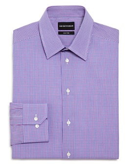 Armani - Checked Regular Fit Dress Shirt