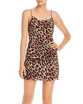 Alice and Olivia - Harmony Leopard Print Slip Dress