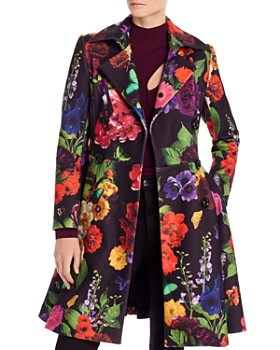 Alice and Olivia - Leila Botanical Fit-and-Flare Coat