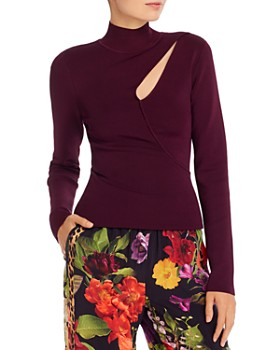 Alice and Olivia - Sophie Cutout Turtleneck Top