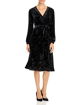 PAULE KA - Paisley Devoré Midi Dress