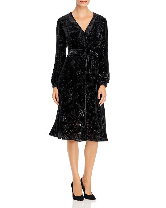 PAULE KA - Paisley Devoré Midi Dress