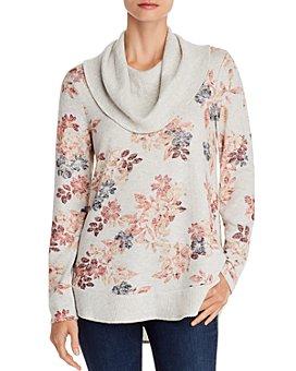 Cupio - Floral-Print Cowl-Neck Sweater