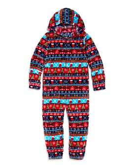 Candy Pink - Boys' Holiday Print One-Piece Pajamas - Little Kid, Big Kid