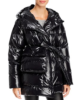 Bacon - Laque Wrap Down Coat with Belt Bag