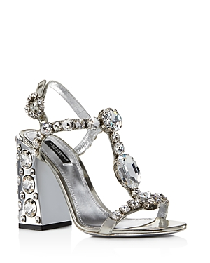Dolce & Gabbana Sandals D & G WOMEN'S EMBELLISHED HIGH-HEEL SANDALS