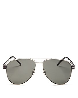 Saint Laurent - Men's Brow Bar Aviator Sunglasses, 60mm
