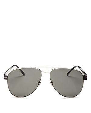 Saint Laurent Men\\\'s Brow Bar Aviator Sunglasses, 60mm-Jewelry & Accessories