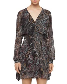 ALLSAINTS - Nichola Paisley Print Smocked Dress