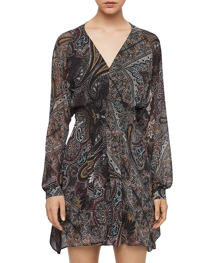 ALLSAINTS - Nichola Paisley Print Smocked Dress