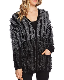 VINCE CAMUTO - Color-Block Fringe Cardigan