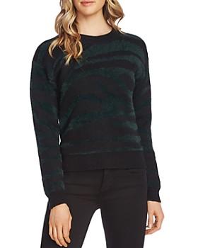 VINCE CAMUTO - Eyelash Textured Zebra Sweater