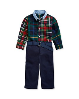 Ralph Lauren - Boys' Patchwork Shirt & Belted Chino Pants Set - Baby