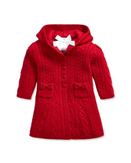 Ralph Lauren - Girls' Cable-Knit Hooded Cardigan - Baby