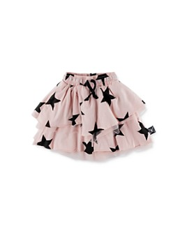 NUNUNU - Girls' Star Print Tiered Skirt - Big Kid