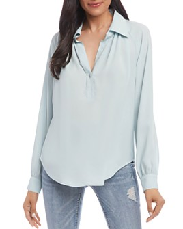 Karen Kane - Relaxed Split-Neck Top