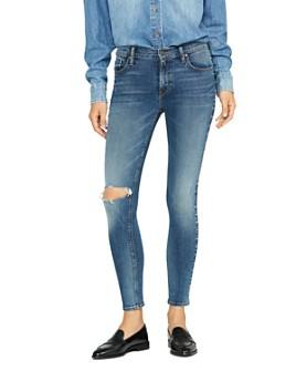 Hudson - Barbara Super Skinny Studded Jeans in Studded Promises