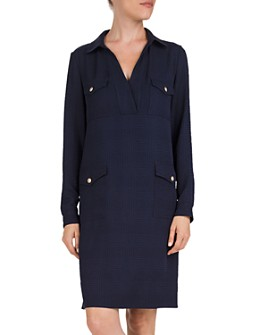 Gerard Darel - Domencia Plaid Flap-Pocket Dress