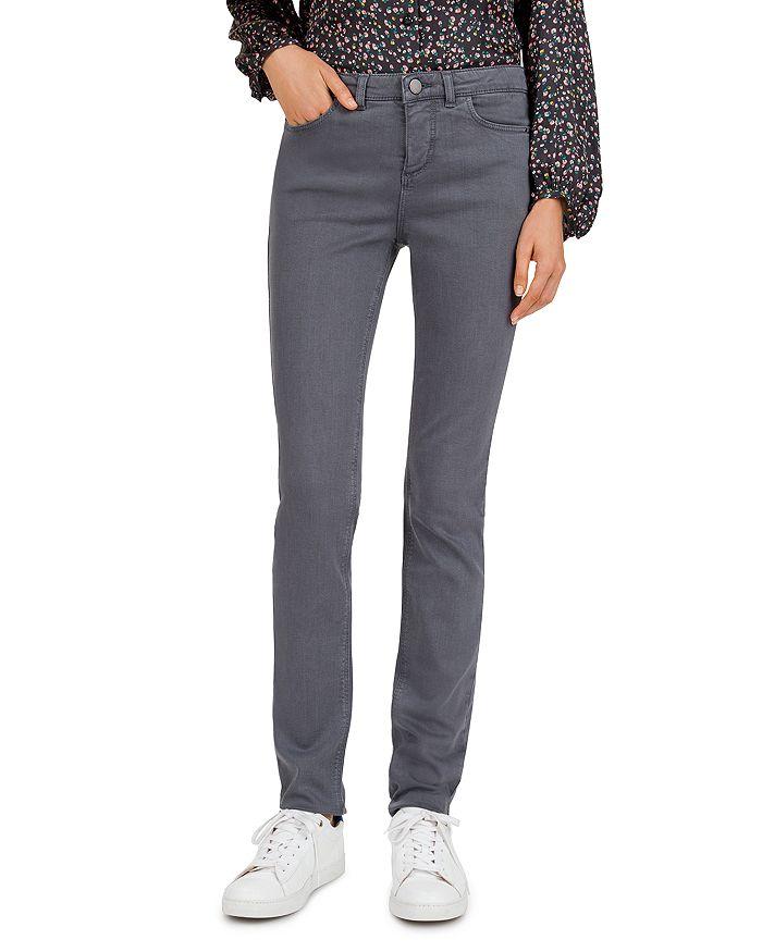 Gerard Darel - Lise Low-Rise Slim Jeans in Gray