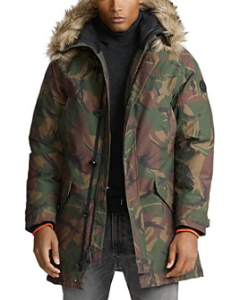 Polo Ralph Lauren - Faux-Fur-Trim Camo Down Parka