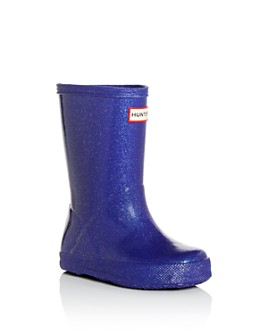 Hunter - Unisex First Classic Starcloud Glitter Rain Boots - Walker, Toddler