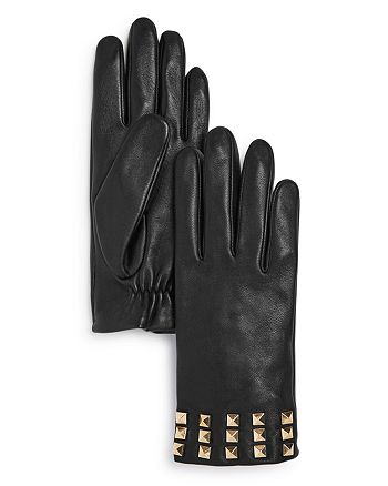 AQUA - Studded Leather Tech Gloves - 100% Exclusive