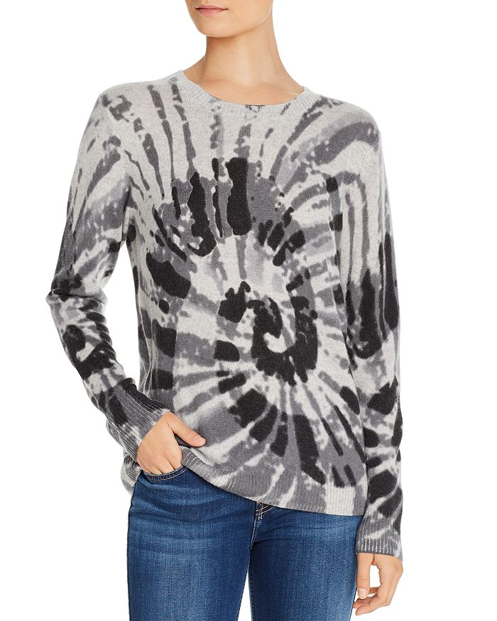 C by Bloomingdale's - Spiral Tie-Dye Cashmere Sweater - 100% Exclusive