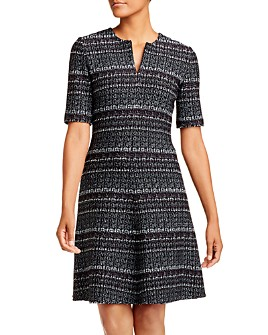 St. John - Wool-Blend Tweed A-Line Dress