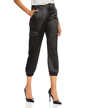 Aqua Satin Cargo Jogger Pants - 100% Exclusive In Black
