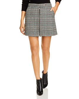 Vero Moda - Houndstooth Plaid Mini Skirt