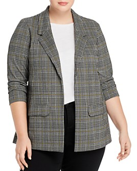 Liverpool Los Angeles Plus - Plaid Open Boyfriend Blazer