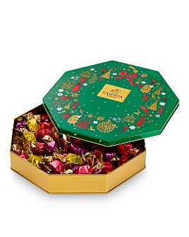 Godiva® - Holiday Tin Assorted Wrapped Truffles, 50 Pieces