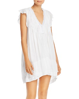 Poupette St. Barth - Sasha Lace-Trim Mini Dress