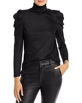 Enza Costa - Puff Sleeve Turtleneck Top