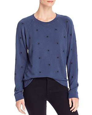 Monrow Vintage Star Embroidered Sweatshirt
