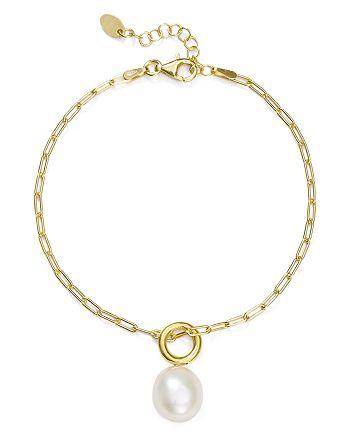 Argento Vivo - Cultured Freshwater Pearl Bracelet in 18K Gold-Plated Sterling Silver