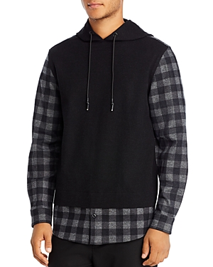 Karl Largerfeld Paris Plaid Combo Sweatshirt-Men