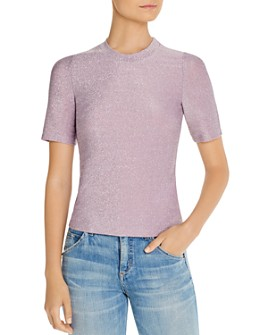 FORE - Metallic Short-Sleeve Top