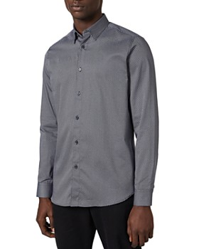 Ted Baker - Micro-Geo Print Slim Fit Button-Down Shirt