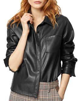 Habitual - Taylor Cropped Faux-Leather Shirt