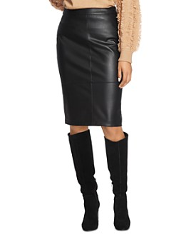 1.STATE - Faux-Leather Pencil Skirt