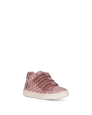 Geox Girls' B Djrock Polka Dot High-Top Sneakers - Little Kid