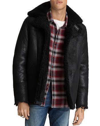 John Varvatos Star USA - Roppa Regular Fit Shearling Jacket