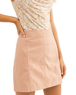 Free People - Modern Femme Faux Leather Skirt