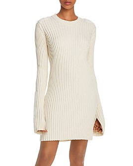 Helmut Lang - Ribbed Knit Patch Dress