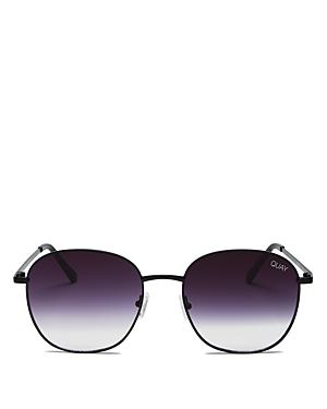 Quay Women's Quay x Chrissy Tiegen Jezabell Mirrored Round Sunglasses, 54mm