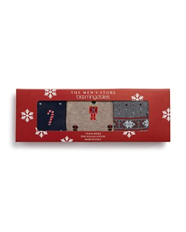 The Men's Store at Bloomingdale's - Holiday Socks Gift Box - Pack of 3 - 100% Exclusive