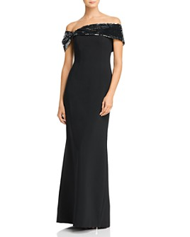 Sachin and Babi - Zadie Embellished Off-the-Shoulder Gown